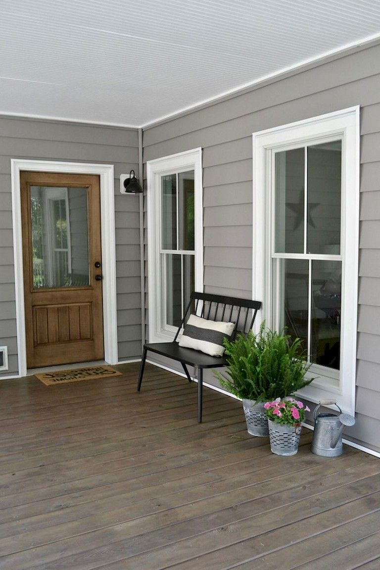 50 Picturesque Rustic Farmhouse Front Porch Decorating Ideas Rusticfarmhouse Frontporchdecor Frontporch House With Porch Porch Design Exterior House Colors