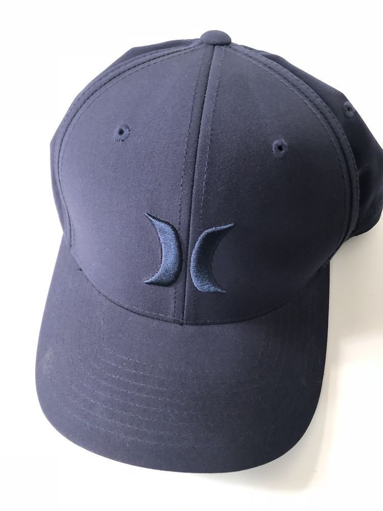 33a613e8 Hurley Men's One and Only Flex Fit Stretch Fitted Hat Cap - Navy ...