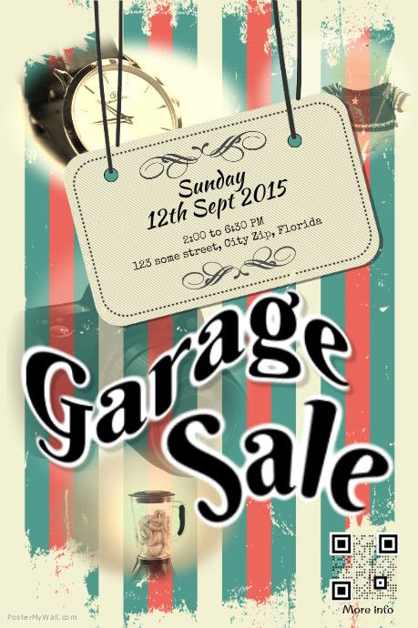 Garage Sale Flyer Template HttpWwwPostermywallComIndexPhp