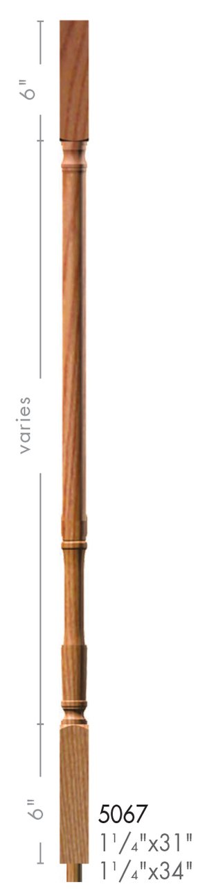 Best 5067 31 Colonial Style Square Top Baluster With Images 400 x 300