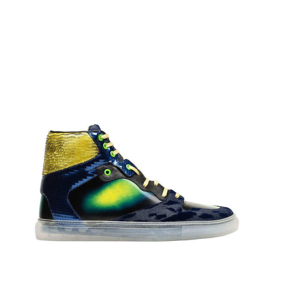 Balenciaga Sneakers Hautes Irisées Multicolores pour Homme | Balenciaga