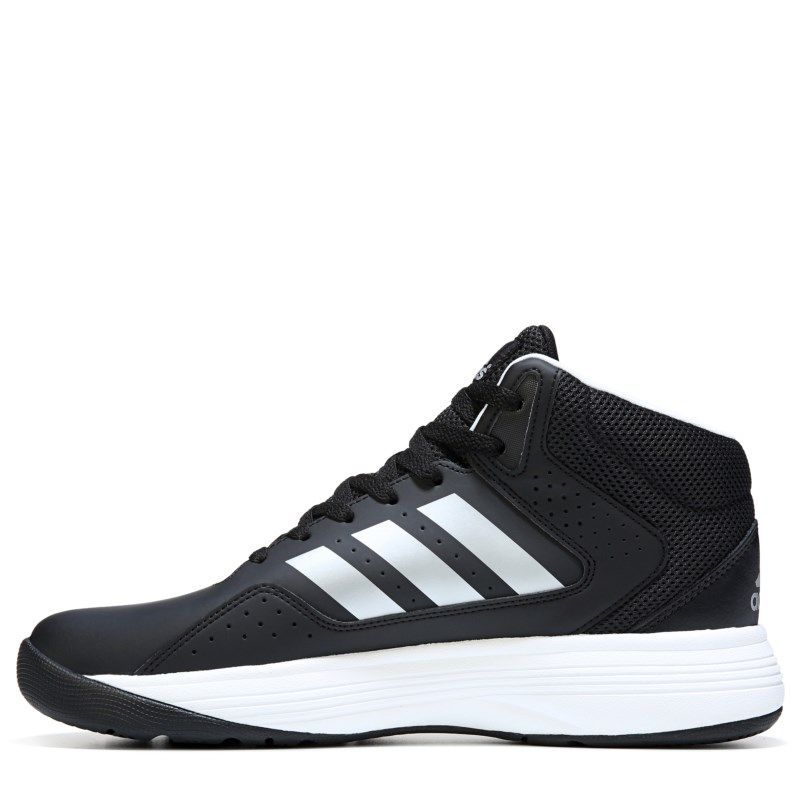 b6c05732cf6110 Adidas Men s Neo Cloudfoam Ilation Mid Wide Basketball Shoes (Black White)