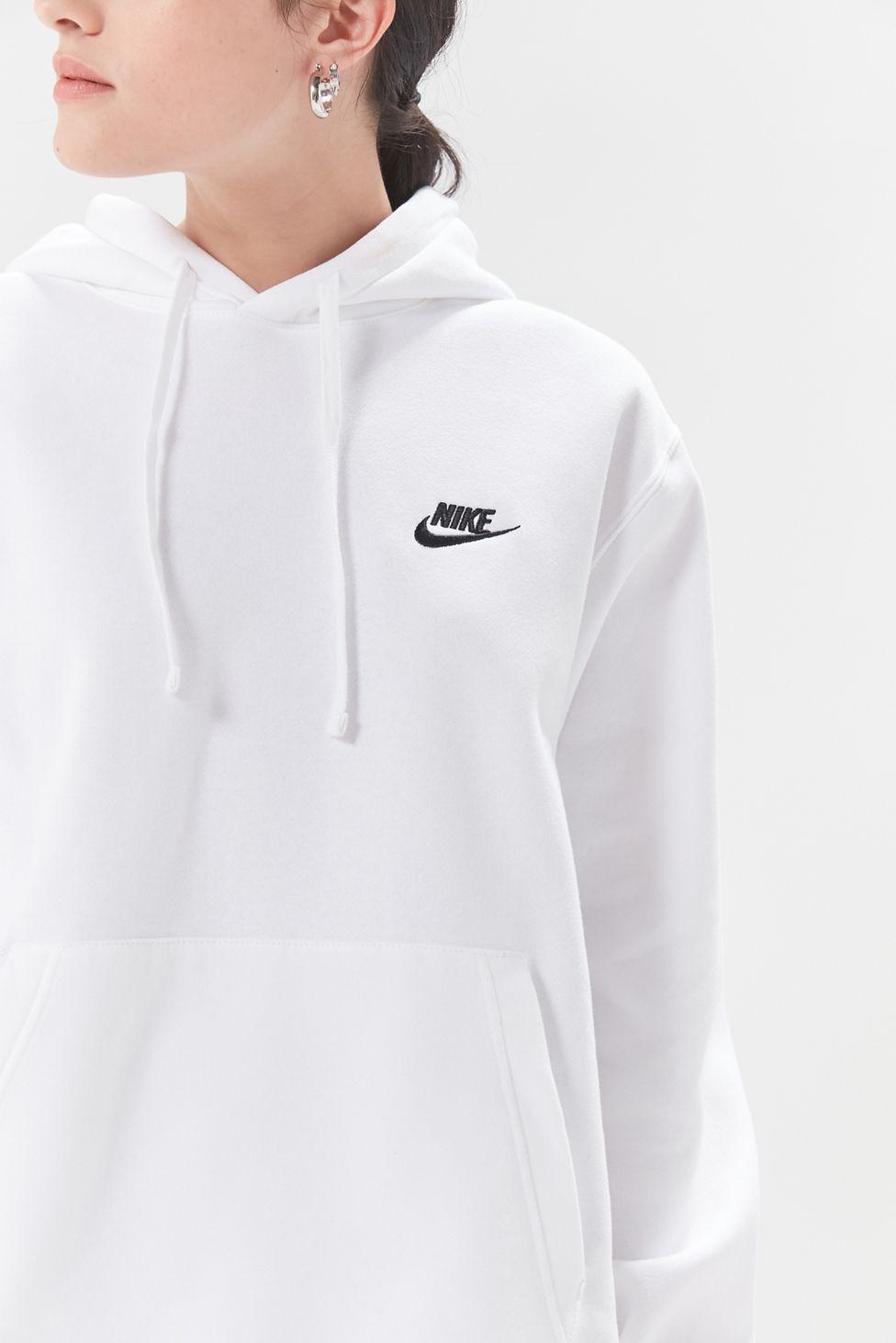 Nike Swoosh Hoodie Sweatshirt | Sweatshirts hoodie, White ...