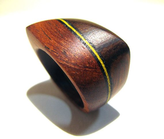 Wood Ring  Twisted Ridge design featuring Ironwood by Endeavours, $66.00
