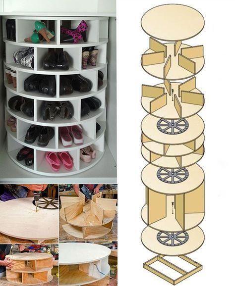 Wohnideen-für-runden-Schuhregal-selber-bauen meins Pinterest - wohnideen zum selber bauen