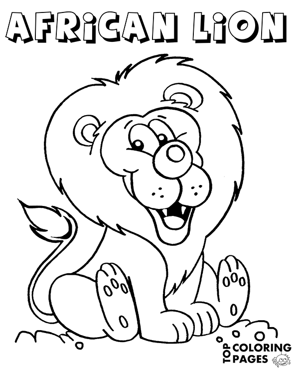 Animals coloring pages for children, lion, tiger, giraffe, cats ...