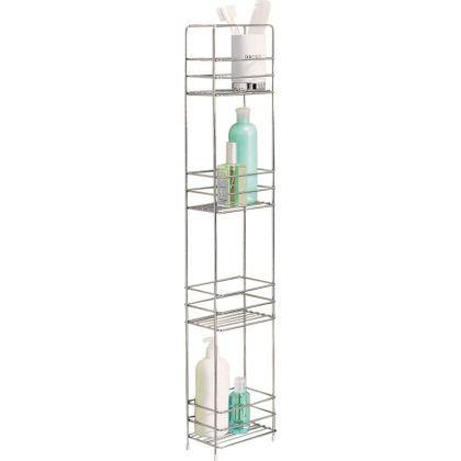 Wire 4 Tier Storage Caddy - Chrome. H86, W16, D12cm £10 | Bathroom ...
