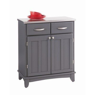 Home Styles Buffet Of Buffets Stainless Steel Top Small Server In Gray Finish List Price 413 91 202 99