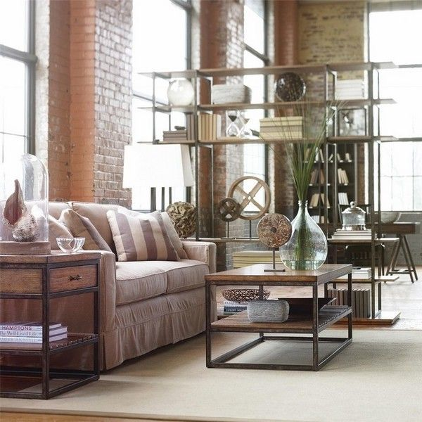 chic loft apartment furniture ideas living room design industrial ... - Industrial Chic Wohnzimmer