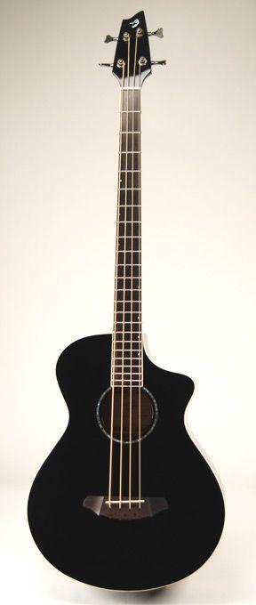 "Breedlove Atlas Series Black Bass ""B3"" Four String Acoustic Bass Guitar-- I want an acoustic bass :c"