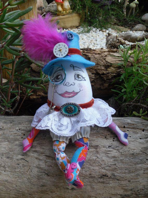 Humpty Dumpty art doll ooak soft cloth doll by jansfabfairies