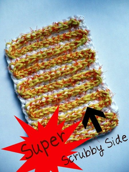 Reversible Dish Scrubber Using Recycled Mesh Produce Bags ...