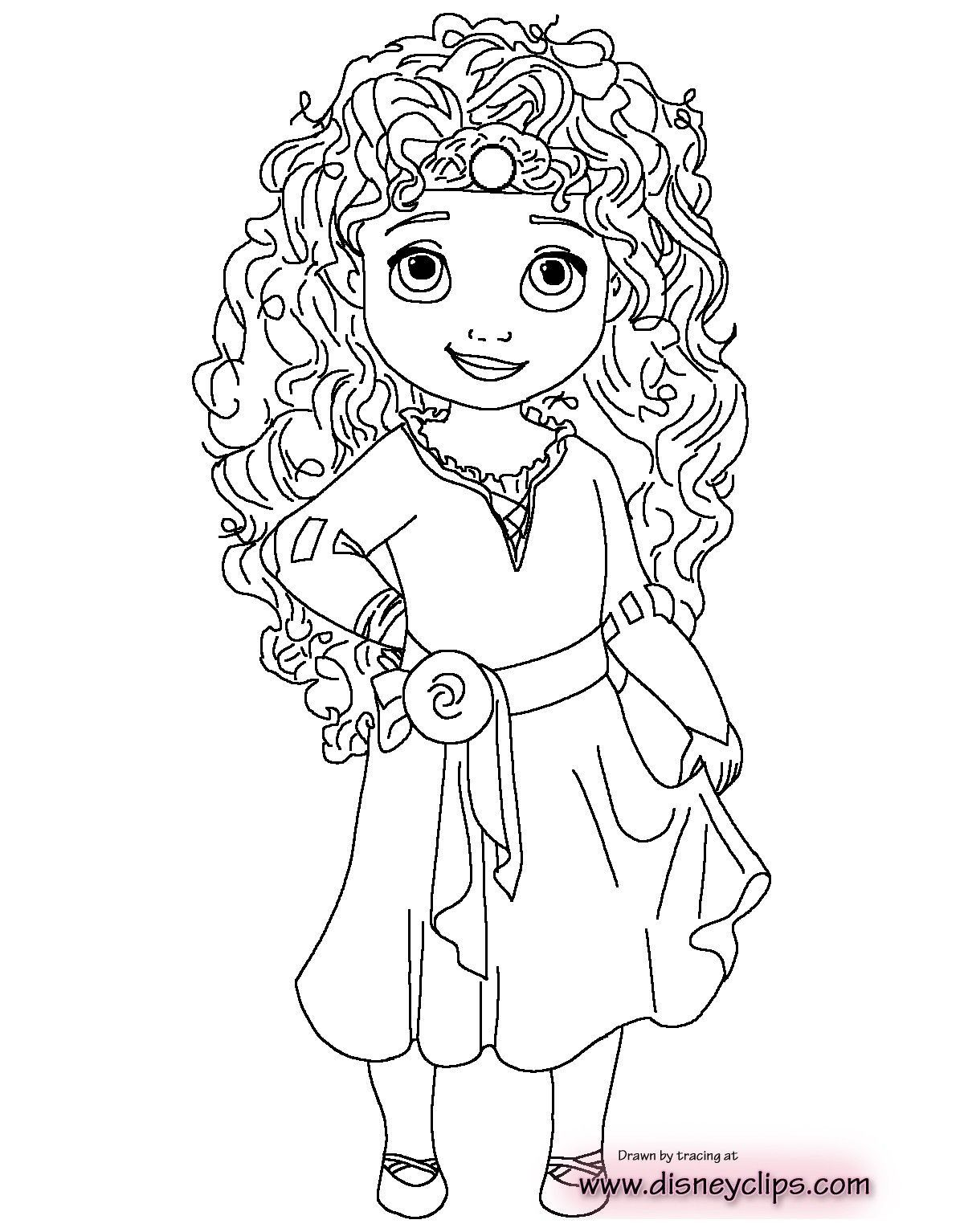 Ghim Tren Princess Coloring Page