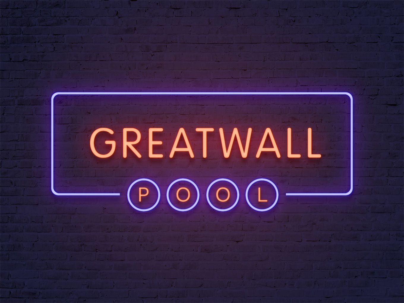 Neon sign effect — free PSD with smart objects