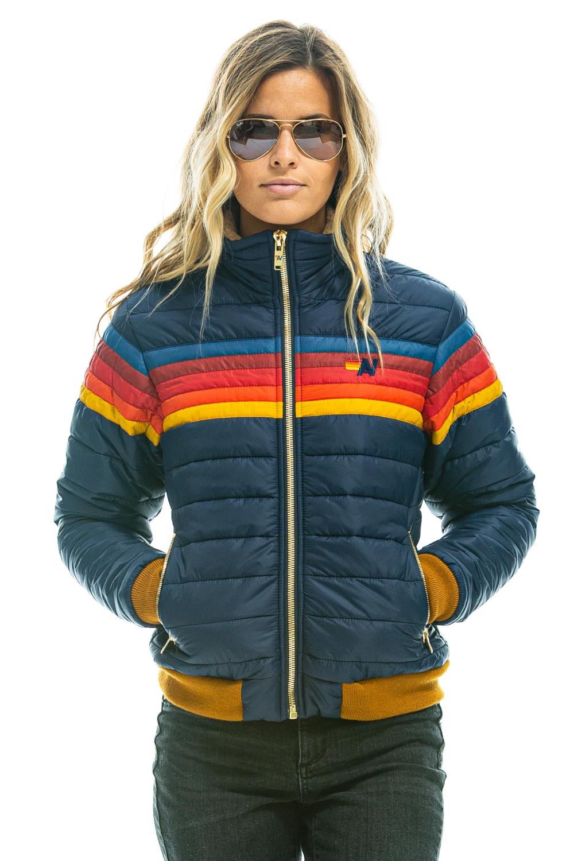 Outerwear Women S Aviator Nation Striped Jacket Outerwear Women Leather Jackets Women [ 1500 x 1000 Pixel ]