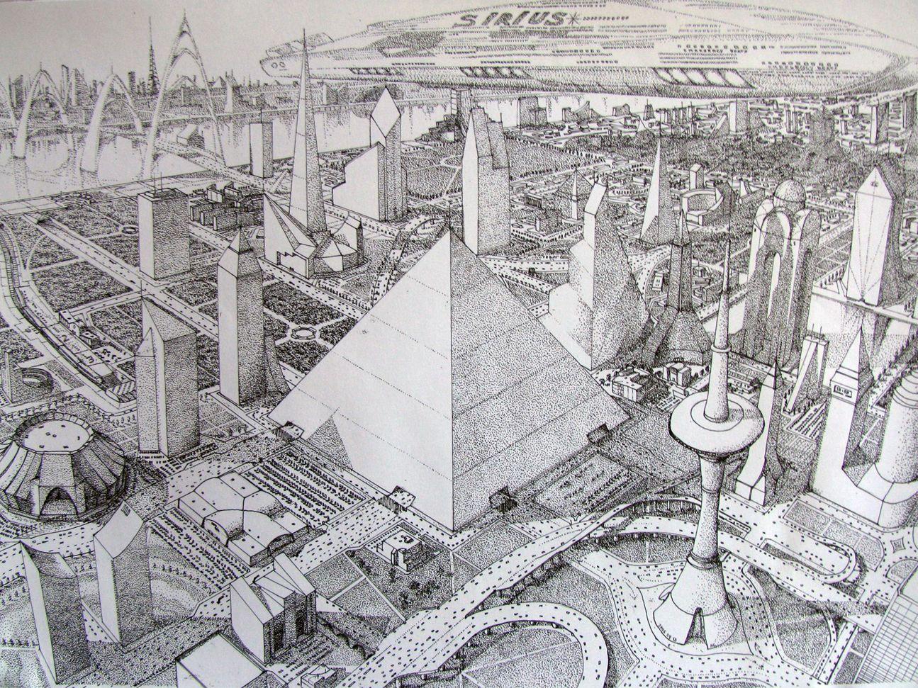 Futuristic city by bazaltique city drawingbuilding