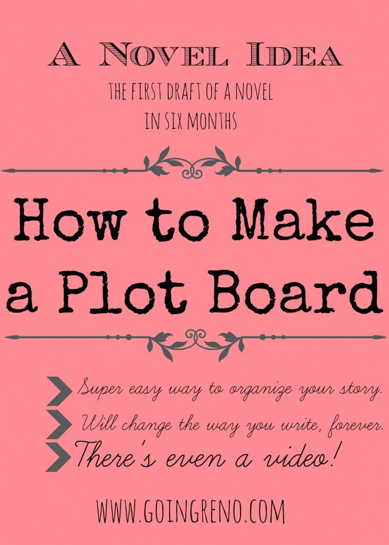A Novel Idea: How to Make a Plot Board--it's super simple, it will keep your  story organized, and I even made a video!