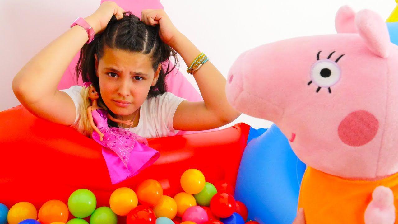 Barbie Partisi Barbie Aksesuarla Susleme Kardelen Cocuk Partisine Gidiyor Barbie Parti Cocuk