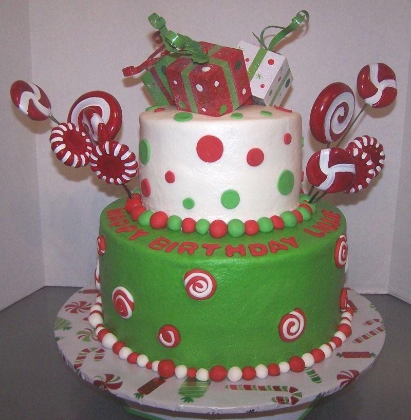 december birthday cakes - 800×818