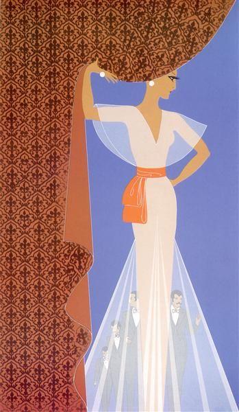 The Curtain - Erte