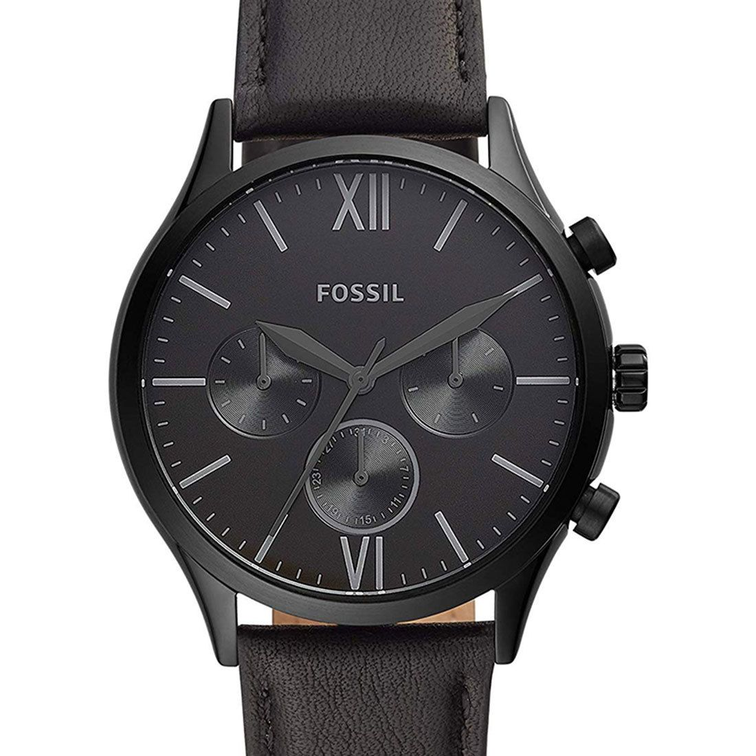 Fossil Fenmore Black Leather Mens Watch BQ2364 in 2020