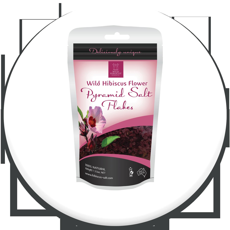 Wild Hibiscus Flower Pyramid Salt Flakes Ws Unit Products