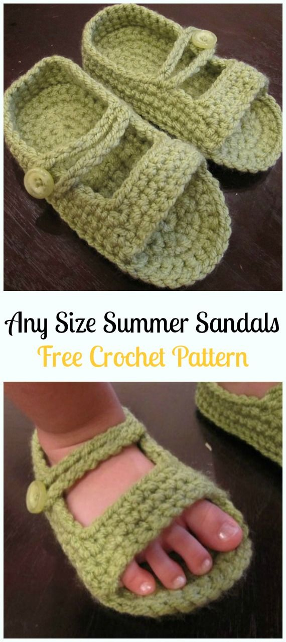Crochet Any Size Summer Sandals Free Pattern-Crochet Baby Sandals ...