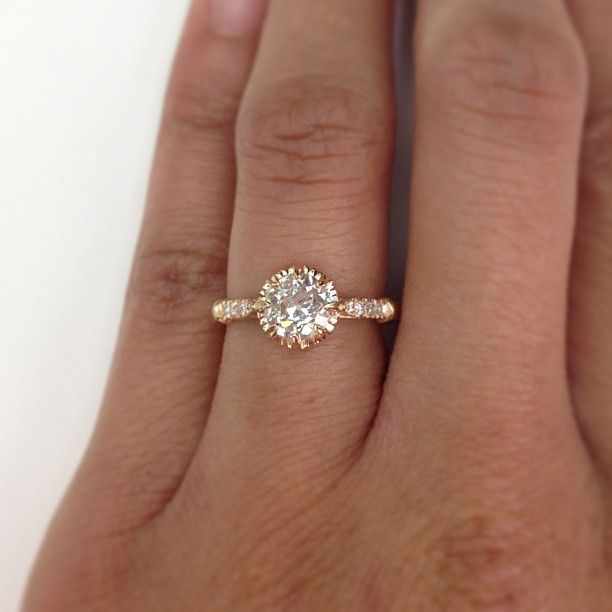 This Ring In Rose Gold Is So Lovely 0 81ct Old European Cut