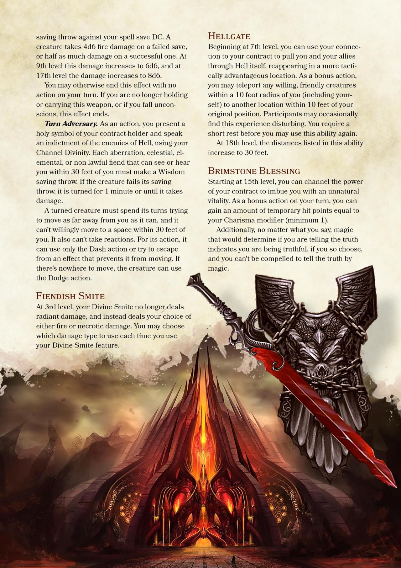 DnD 5e Homebrew — Oath of the Hellsworn Paladin by    | Game