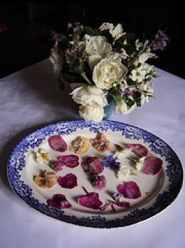 Make sugared flowers for cake decorations (also called candied flowers or frosted flowers)