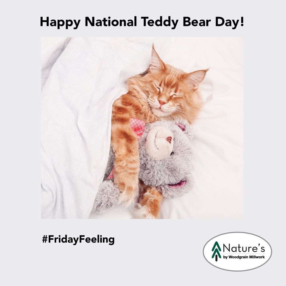 It's National Teddy Bear Day tomorrow! National teddy