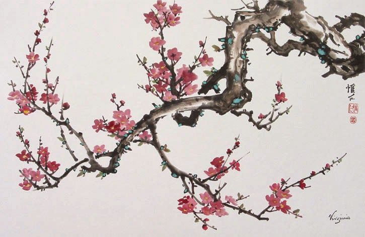 Mtas April 8th Monthly Meeting Demo Sue White Blossoms Art Cherry Blossom Art Cherry Blossom Painting