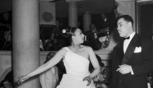 I've always really loved this picture of Josephine Baker and Joe Louis in Paris in the 1950s ...