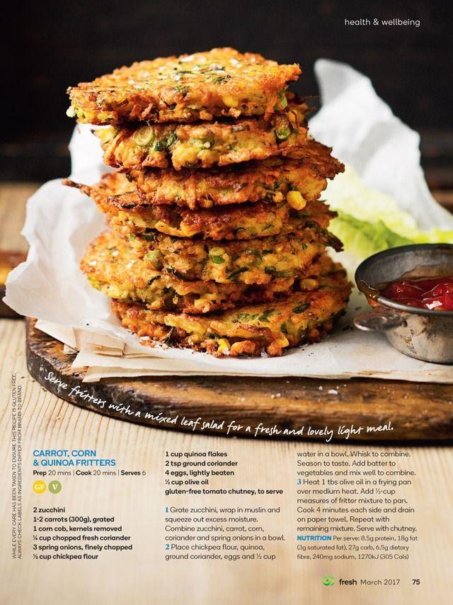 Fritters homomade food ideas pinterest food ideas magazines get recipe food ideas from woolworths fresh magazine forumfinder Choice Image