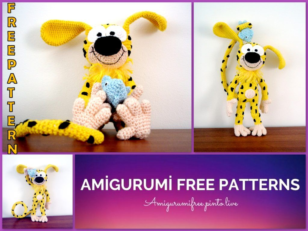 Amigurumi Marsupilami Free Crochet Pattern | Crochet patterns, Stuffed  animal patterns, Free crochet