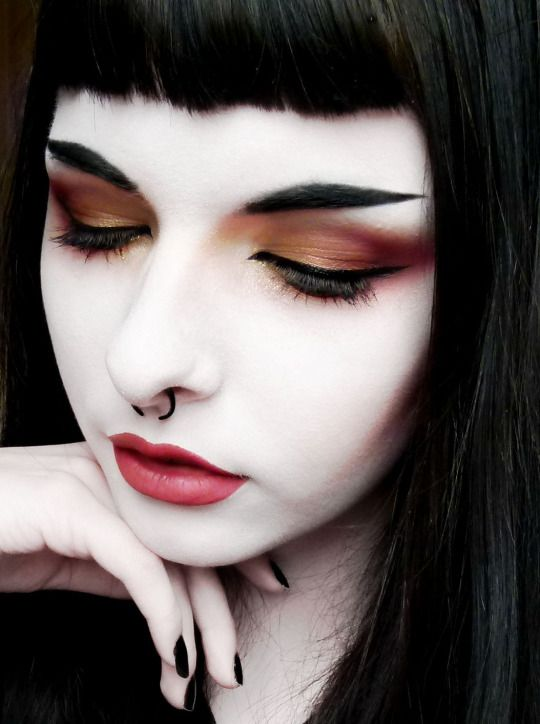Gold And Red Makeup