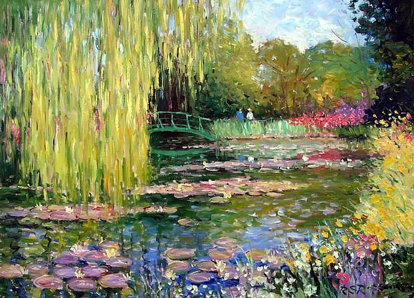 Monets Lily Pond Giverny Painting - Monets Lily Pond Giverny Fine Art Print