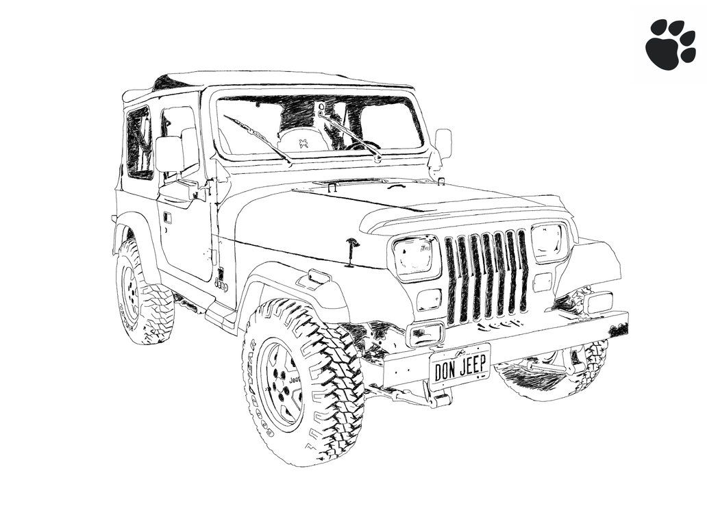 image result for jeep sketch