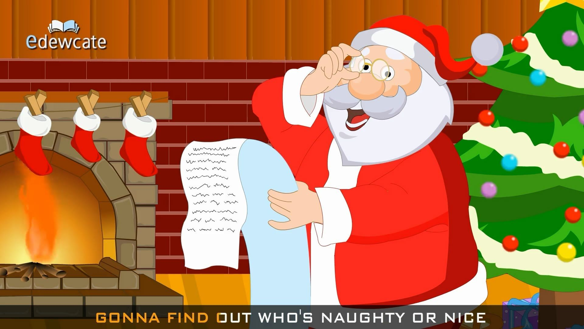 Santa Claus is Coming to Town | Kids Christmas Song | CHINESE NEW ...