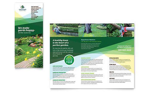 Landscaper Brochure - Microsoft Office Template HOME BUSINESS - microsoft brochure template