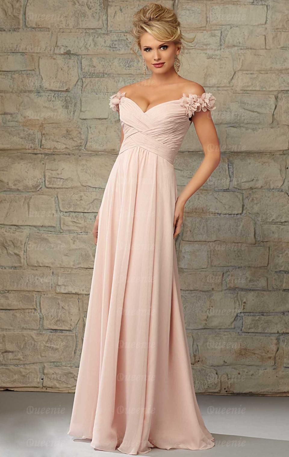 Elegant chiffon pink bridesmaid dresses pink bridesmaid dress angelina faccenda bridesmaids by mori lee 20453 ruffled off the shoulder long luxe chiffon bridesmaid dress designed by madeline gardner ombrellifo Choice Image