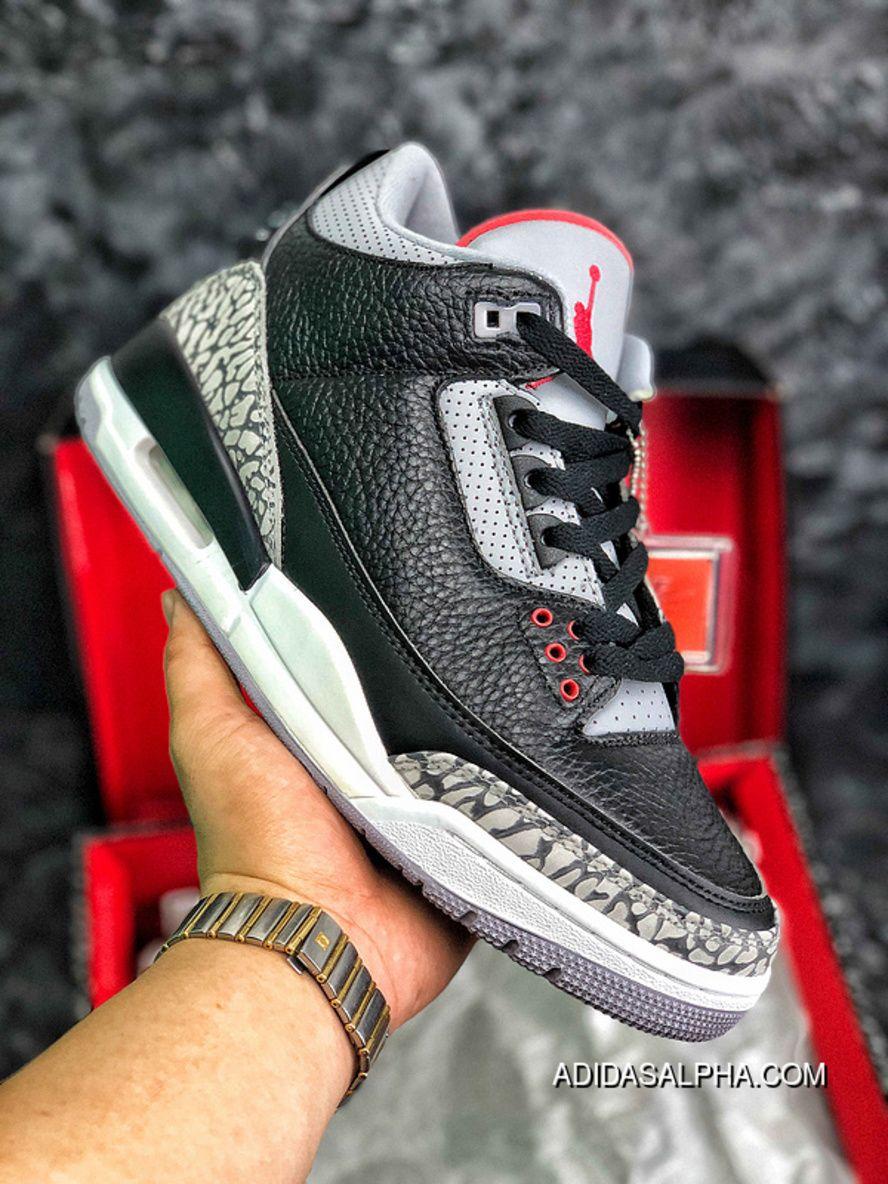 a9e2a242a43337 Air Jordan 3 Black Cement Black Cement AJ3 Blasting Crack SKU 854262-001  New Release
