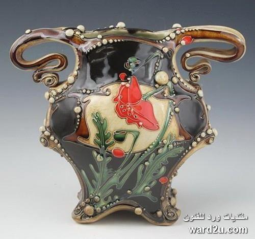 زخارف نباتية خزفيات رائعة للفنانة Carol Long الصفحة 3 Pottery Ceramics Pottery Art