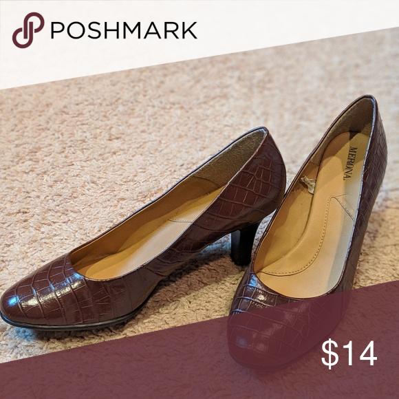 4614f671ef08 Brown merona heels (brand new!) Never work