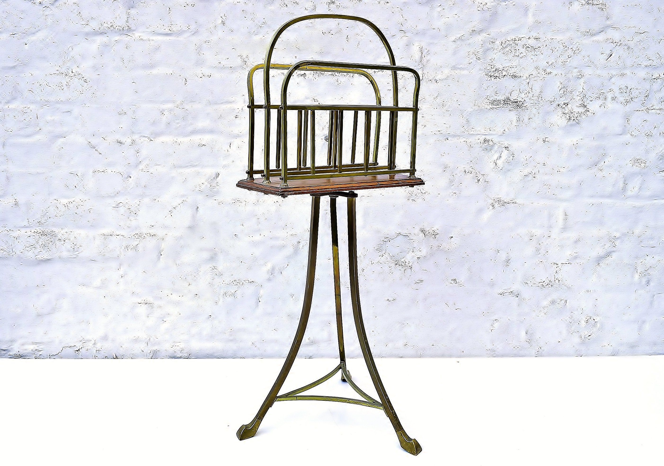 Victorian Antique Newspaper Rack - Edwardian Revolving ...