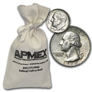 90% Silver Coins - $100 Face Value Bag...Good investment plus a whole lot of fun going through it!