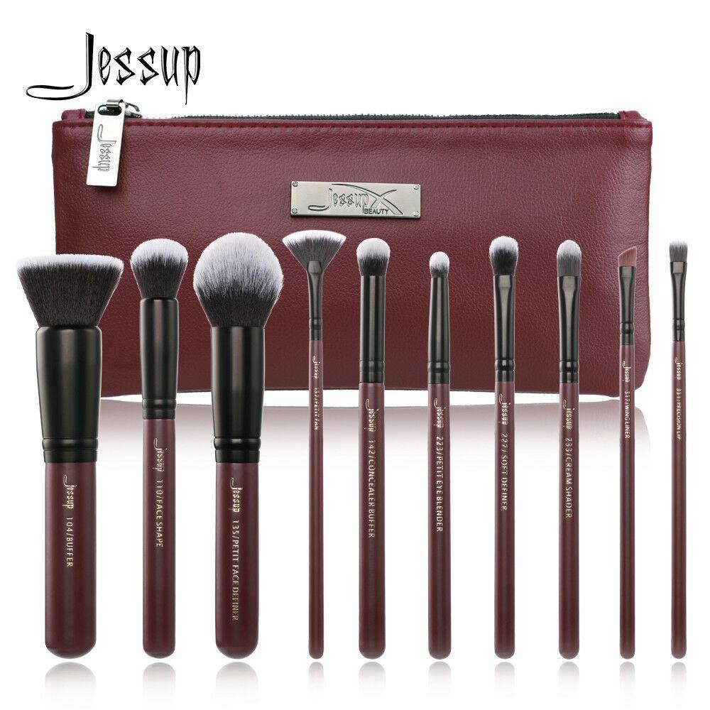 Jessup Makeup Brushes Set Cosmetic Lip Eyeshadow Concealer