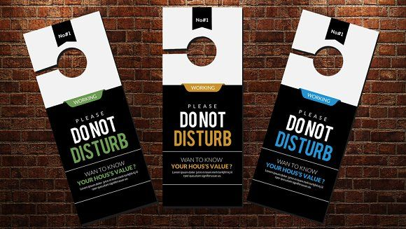 DonT Disturb Door Hanger Template  Doors Door Hanger Template