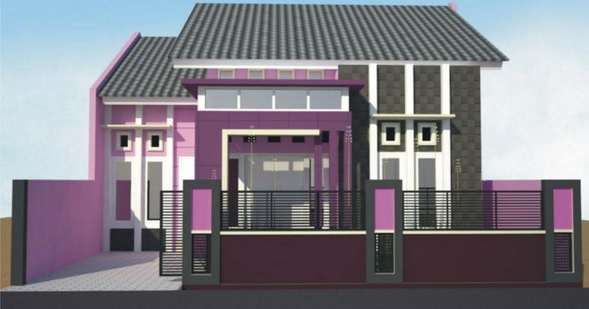 Rumah Minimalis Modern Warna Ungu Di 2020 Rumah Minimalis