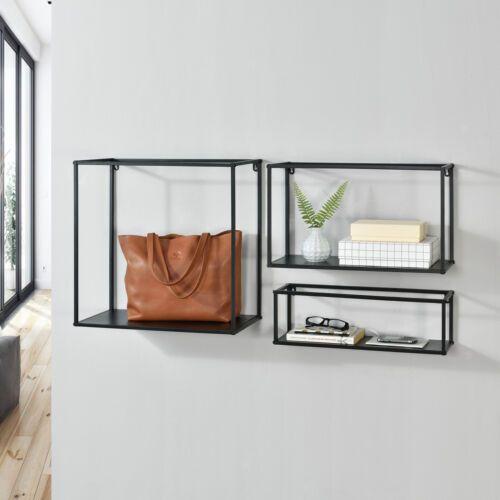 En Casa 3x Metall Wandregal Regalwurfel Hangeregal Cube Regal Ablage Set Schwarz Ebay Regalwurfel Regal Wandregal